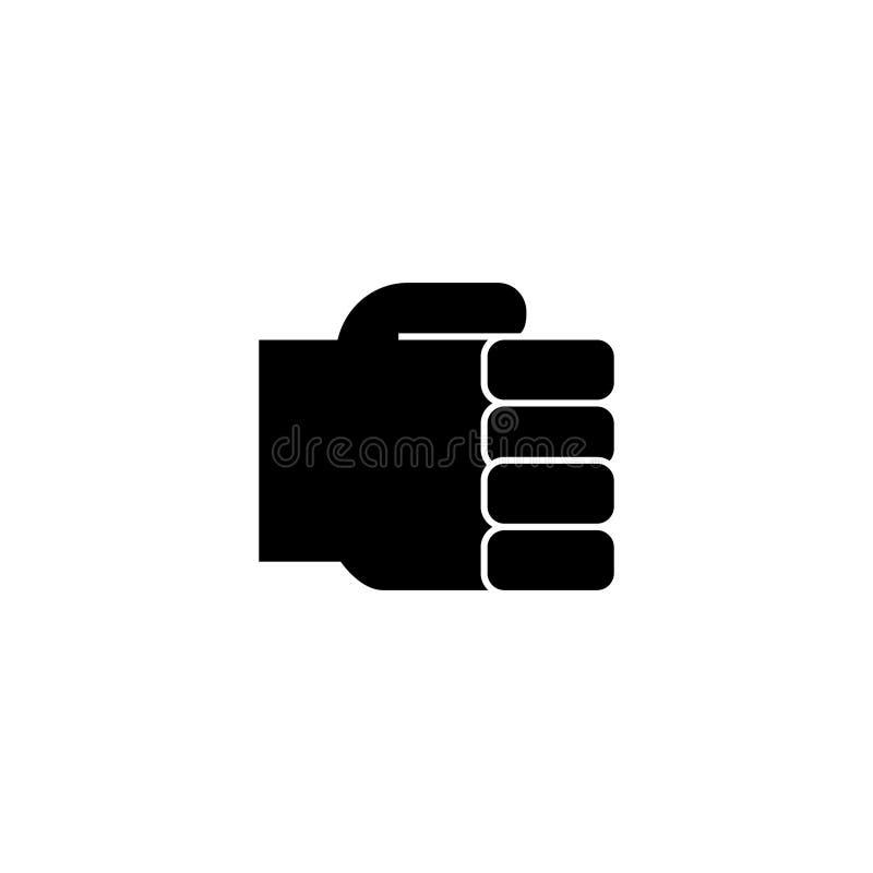 Dé el puño simple, llevando a cabo el icono de la mano, el ejemplo del vector, muestra en fondo aislado libre illustration