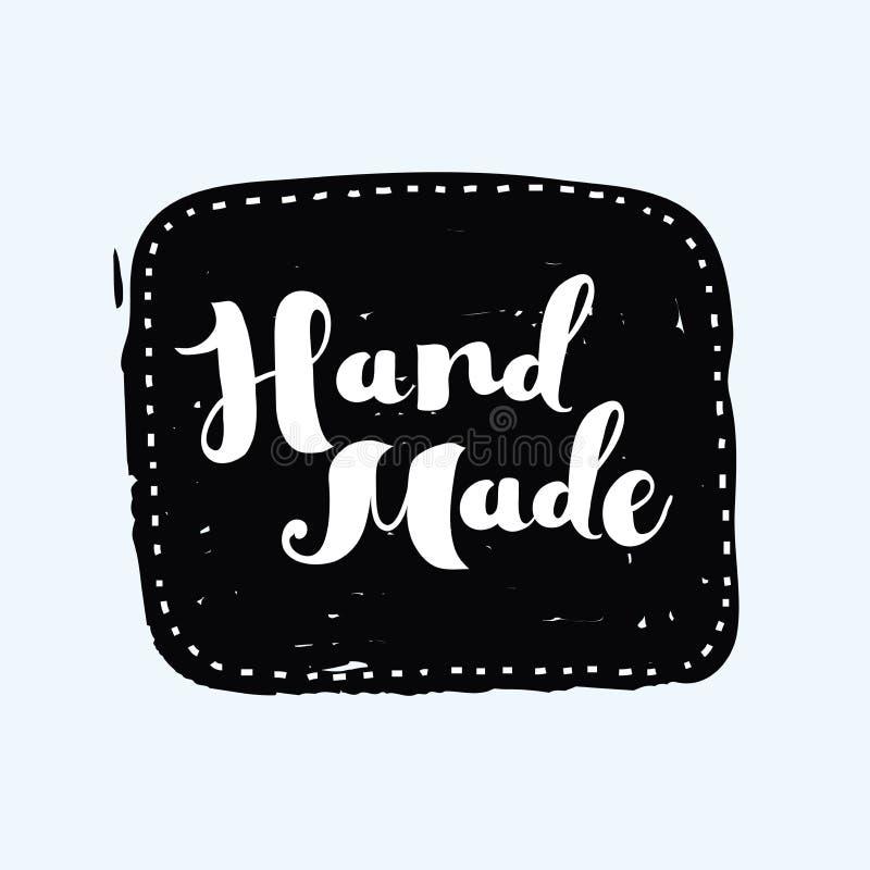 Dé el sello y la mancha exhaustos, handcrafted, hechos a mano de la tinta con forma durty de la textura stock de ilustración