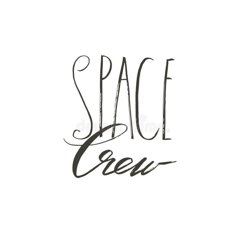 Dé a extracto exhausto del vector el equipo manuscrito moderno creativo gráfico del espacio de fase de las letras de la caligrafí stock de ilustración