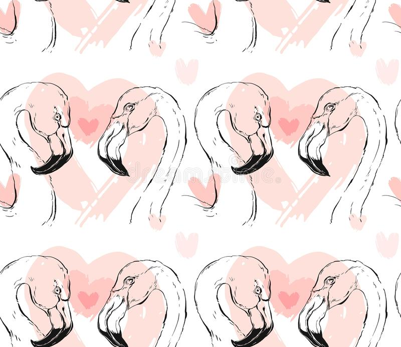 Dé a extracto exhausto del vector los pares gráficos del flamenco modelo inconsútil libre illustration