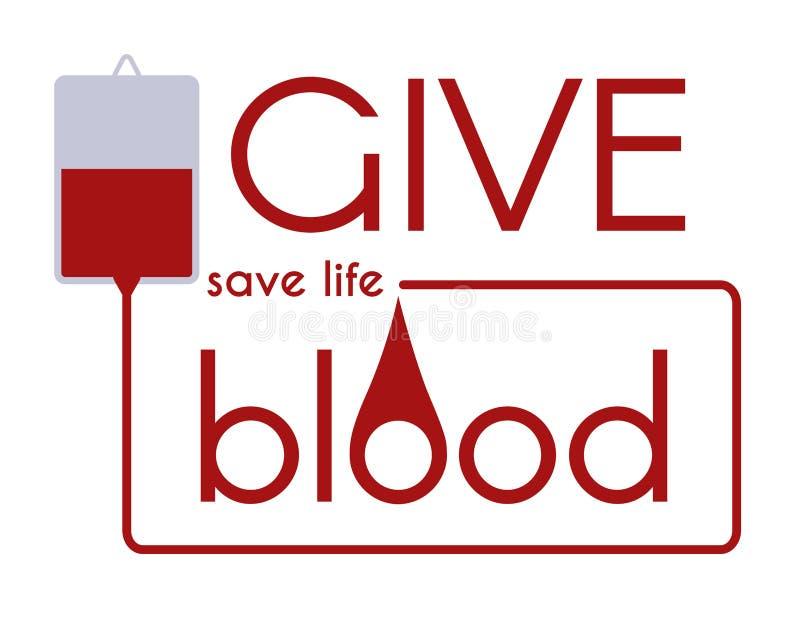 Dé la sangre - ahorre el concepto médico del vector de la vida stock de ilustración