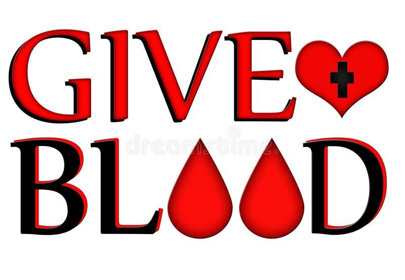 Dé la sangre, done el concepto ilustración del vector