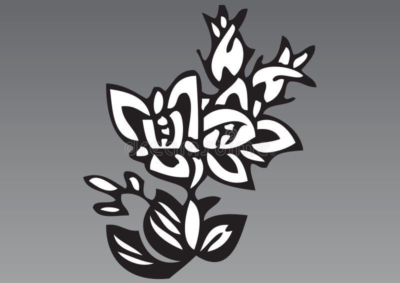 Dé las flores exhaustas 5 ilustración del vector