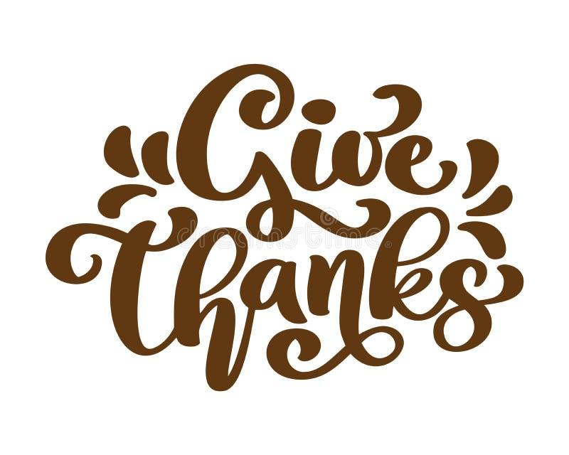 Dé las gracias le agradecen familia de la amistad las letras positivas de la acción de gracias de la cita Gráfico de la postal o  libre illustration