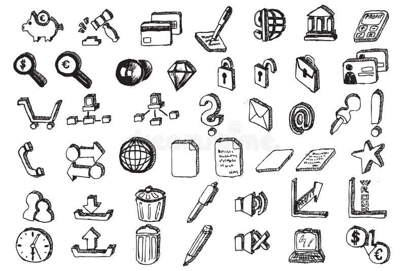 Dé los elementos de la comunicación del drenaje libre illustration