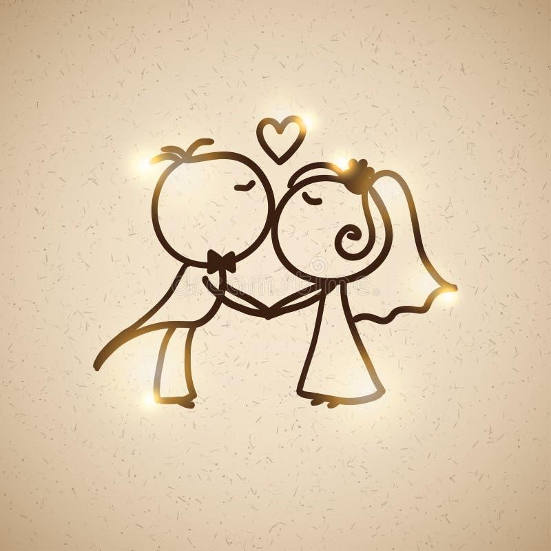 Pares de la boda, vector EPS 10 libre illustration