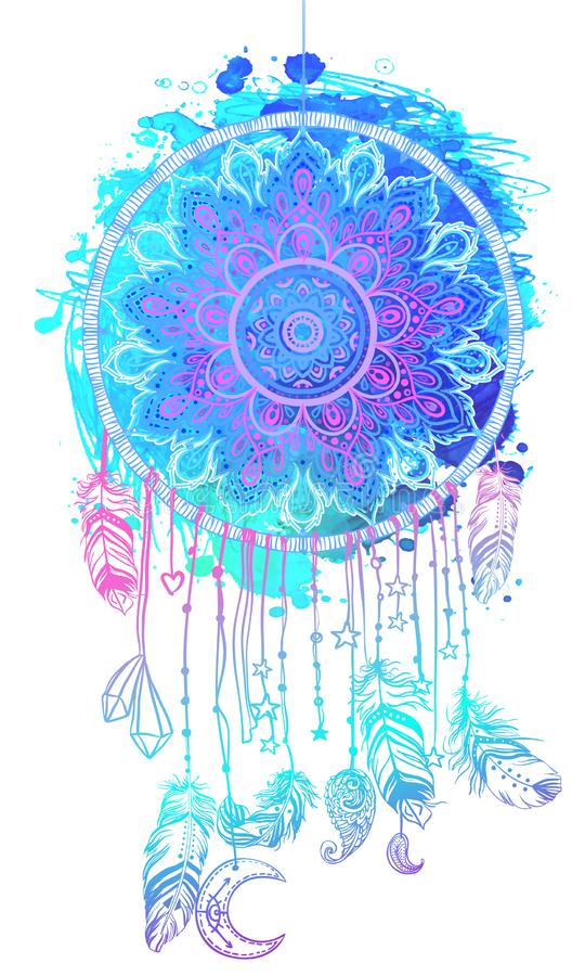 Dé a nativo americano exhausto el colector indio del sueño del talismán con el mA stock de ilustración