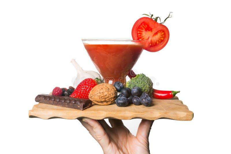 Bandeja de antioxidantes foto de archivo libre de regalías