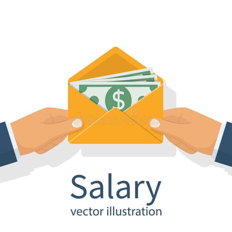 Dé un sueldo Vector ilustración del vector