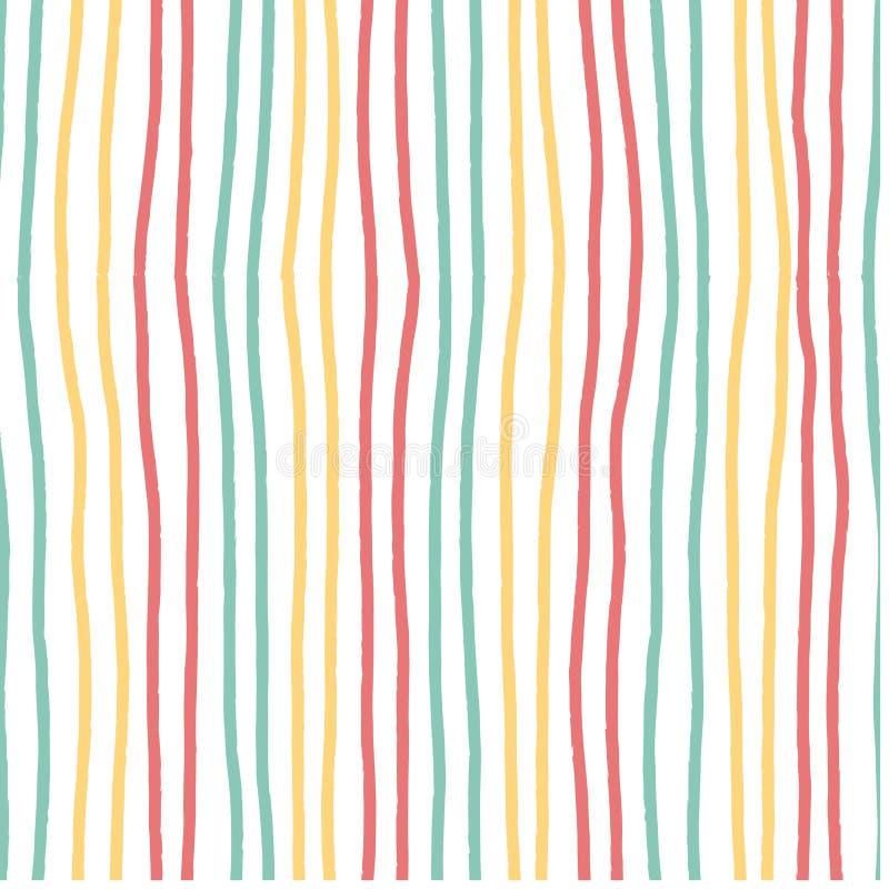 Dé a vintage horizontal exhausto del modelo de la raya el color en colores pastel suave inconsútil stock de ilustración