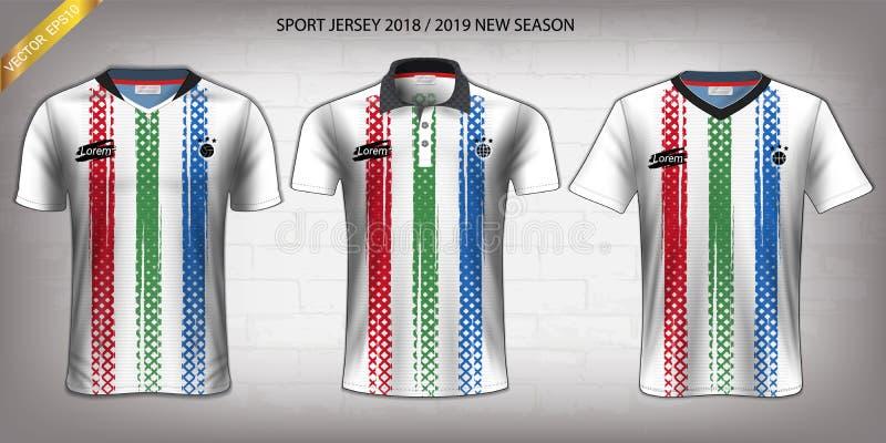Débardeur de sport, calibre de maquette de conception de T-shirt, Front View pour vos uniformes faits sur commande illustration libre de droits