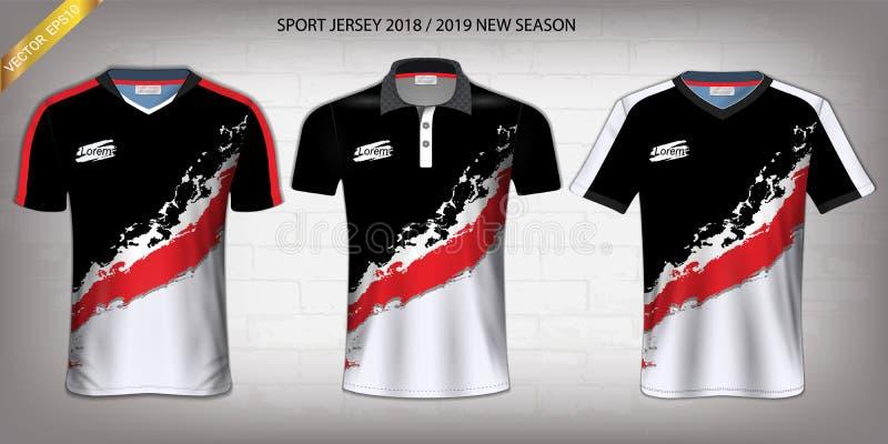 Débardeur de sport, calibre de maquette de conception de T-shirt, Front View pour vos uniformes faits sur commande illustration stock