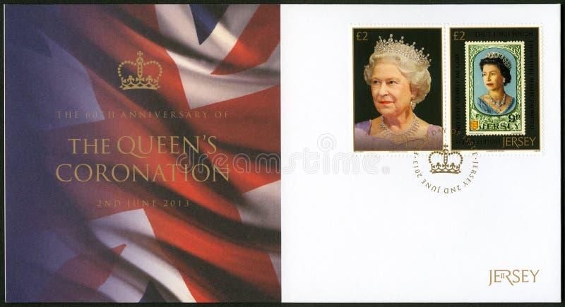 DÉBARDEUR - 2013 : la Reine Elizabeth II, anniversaire d'expositions de série soixantième du couronnement du ` s de reine images libres de droits