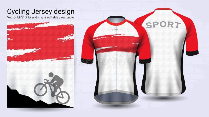 Débardeurs de recyclage, calibre court de maquette de sport de douille, conception graphique pour l'habillement de bicyclette ou  illustration libre de droits