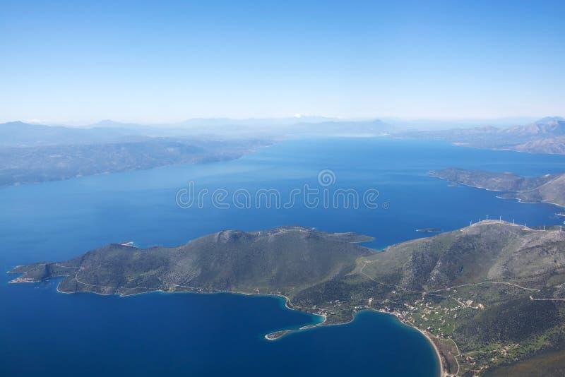 Débarquant à Athènes, la Grèce image stock