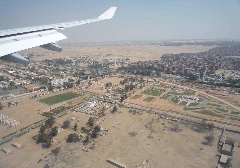 Débarquant au Caire, l'Egypte, aéroport images libres de droits