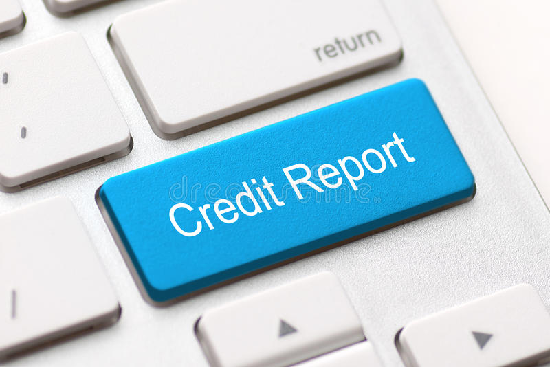 Débito da contagem da verificação do empréstimo do acesso livre de relatório de crédito bom imagens de stock