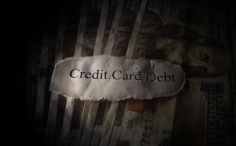 Débito do cartão de crédito foto de stock
