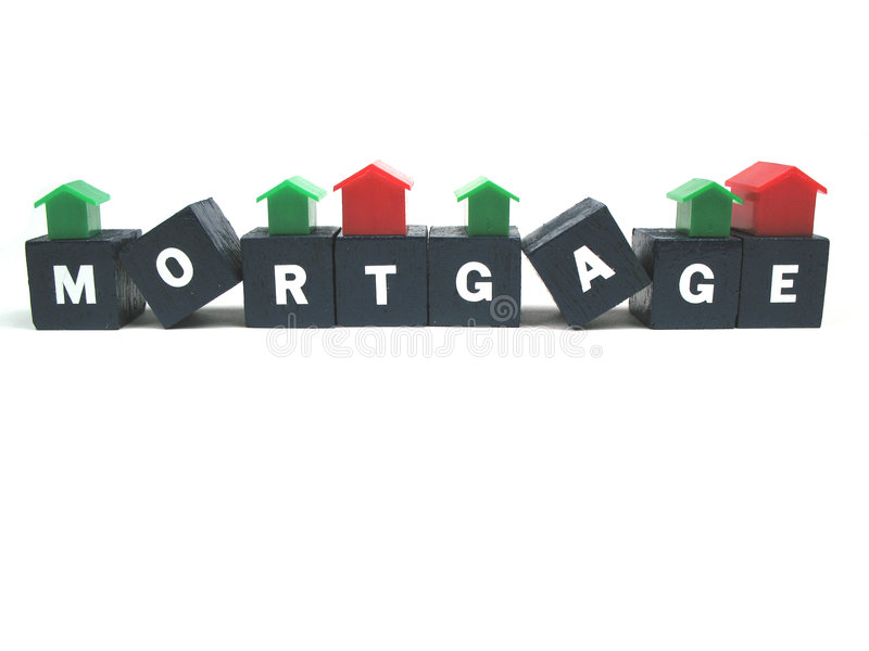 Débitos de hipoteca imagens de stock