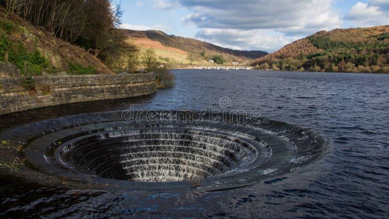Débordement de réservoir de Ladybower photos libres de droits
