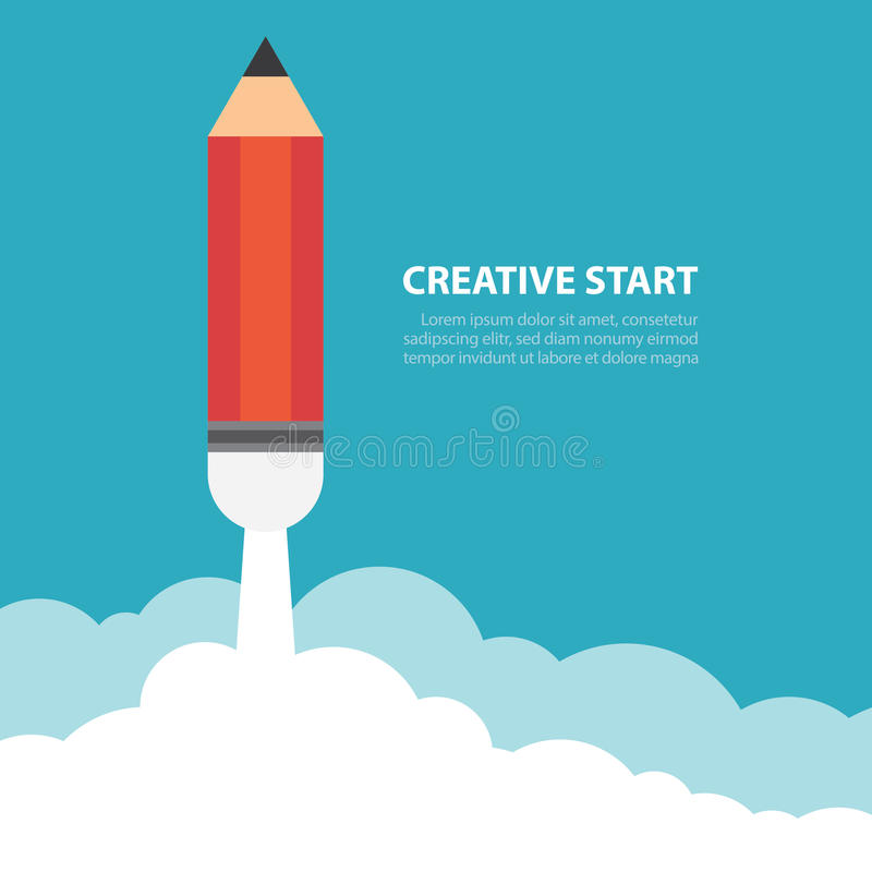 Début créatif illustration libre de droits
