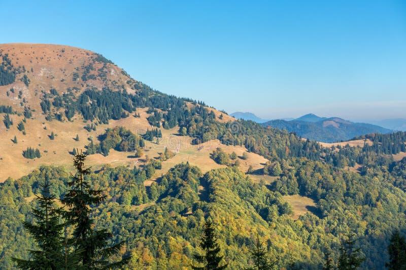 Début d'automne dans les montagnes photos stock