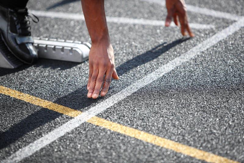 Début d'un sprint photographie stock libre de droits