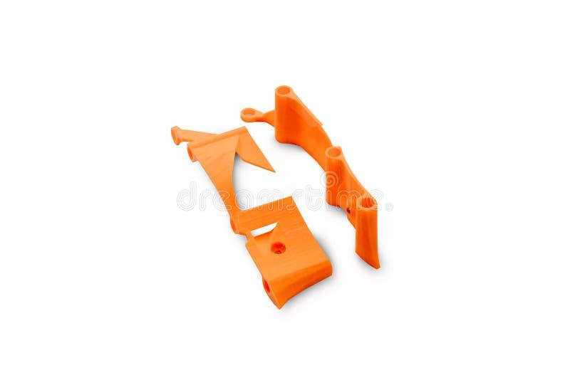 Début de l'ensemble de emballage de bourdon Les éléments d'une pièce de rechange d'un véhicule aérien téléguidé encadrent imprimé images stock
