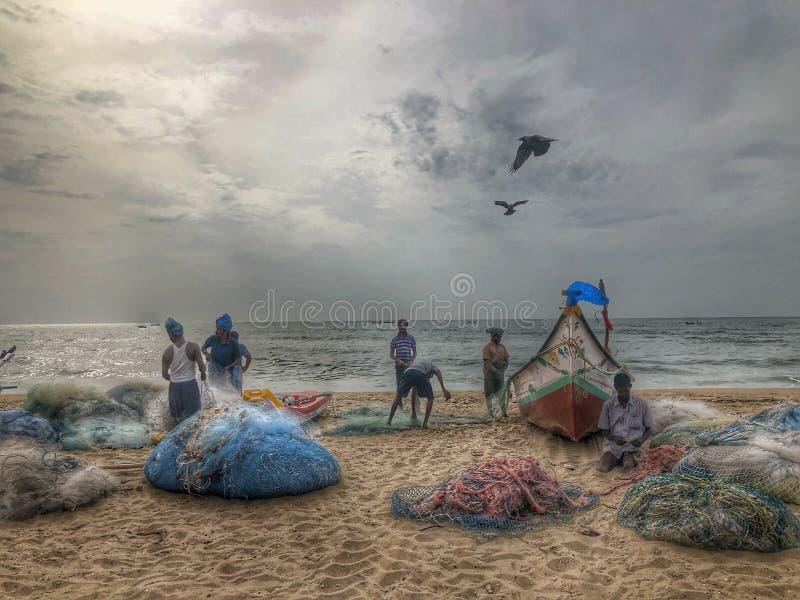 Début de la matinée dans la plage images stock