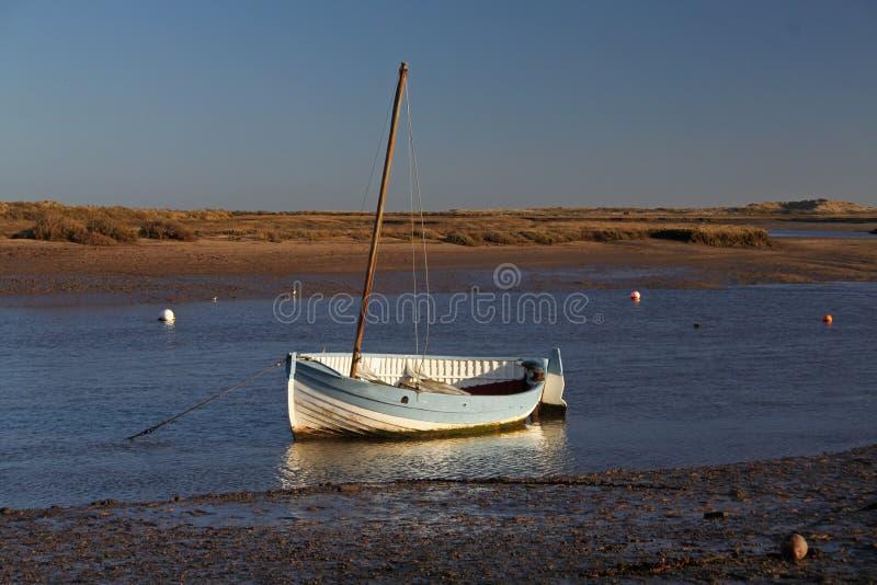 Début de la matinée, marées, scène de port images stock