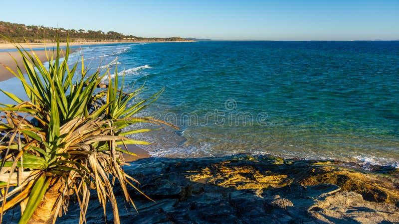 Début de la matinée sur une plage australienne image libre de droits