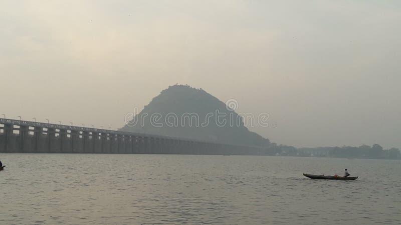 Début de la matinée Vijayawada images libres de droits