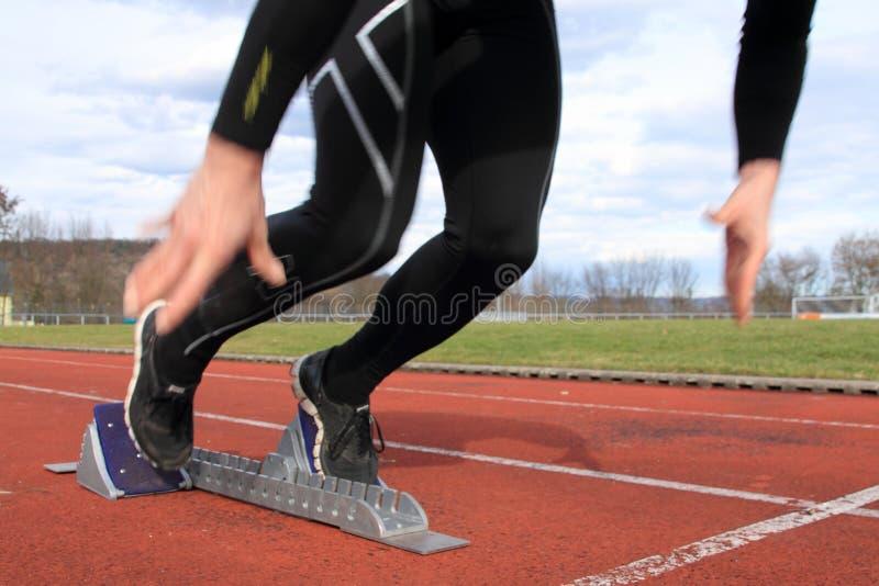 Début de Sprint photo libre de droits