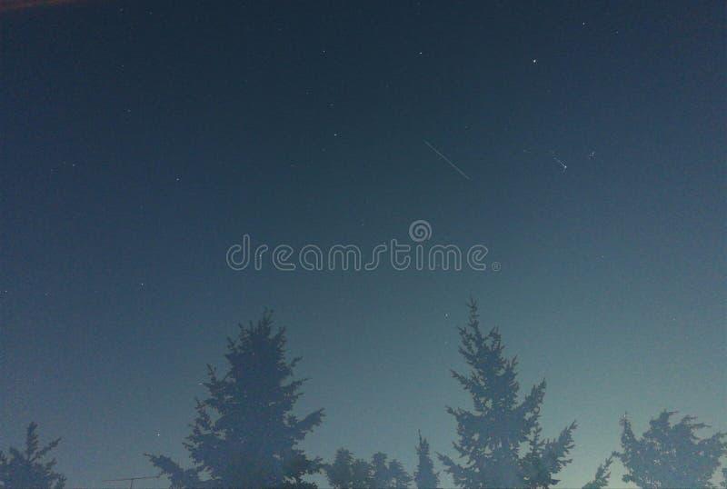 Débuts mobiles de ciel nocturne images libres de droits