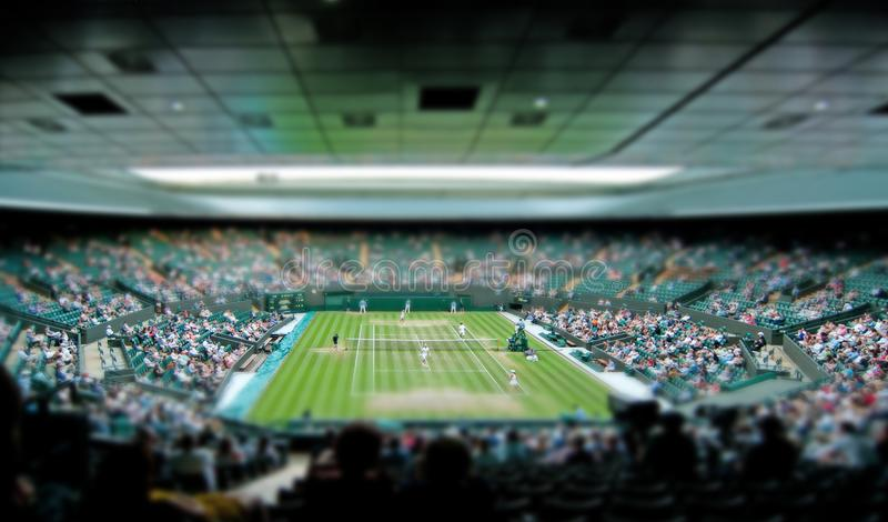 Décalage d'inclinaison de cour de centre de tennis de Wimbledon photo libre de droits