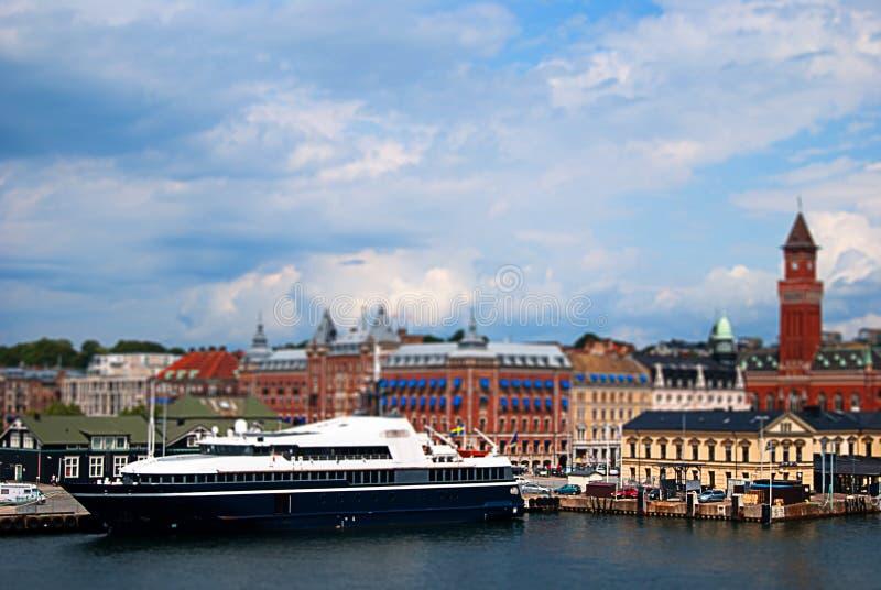 Décalage d'inclinaison de Helsingborg photographie stock