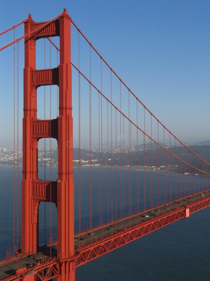 Décalage nordique de tour de pont en porte d'or images libres de droits