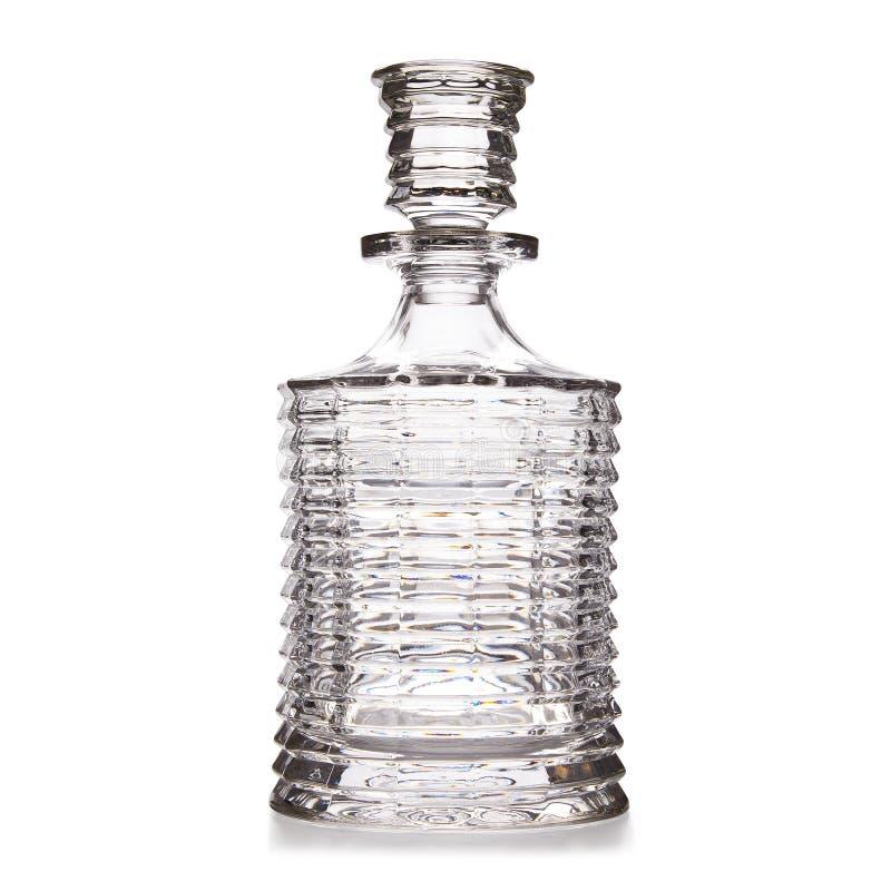 Décanteur élégant de verre cristal de coupe photo libre de droits
