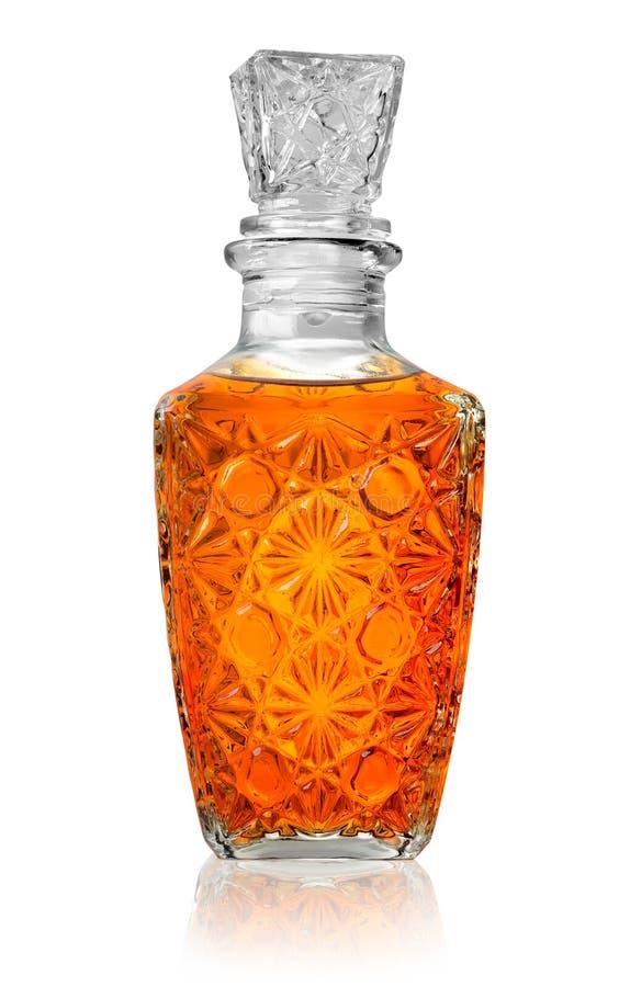 Décanteur avec le whiskey image stock