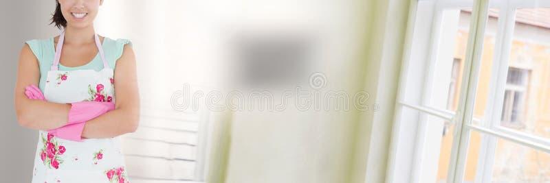 Décapant avec le fond et les fenêtres lumineux photographie stock libre de droits