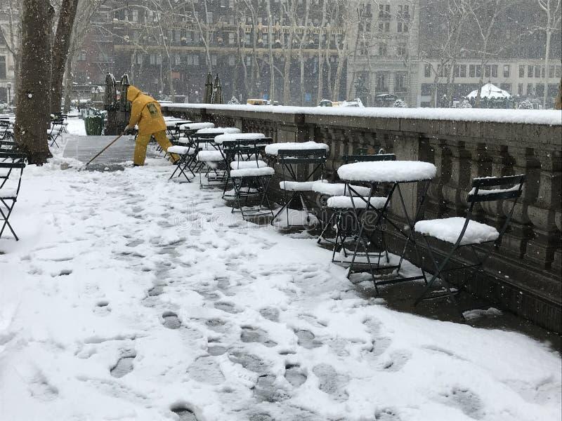 Décapant de Bryant Park Snow images stock