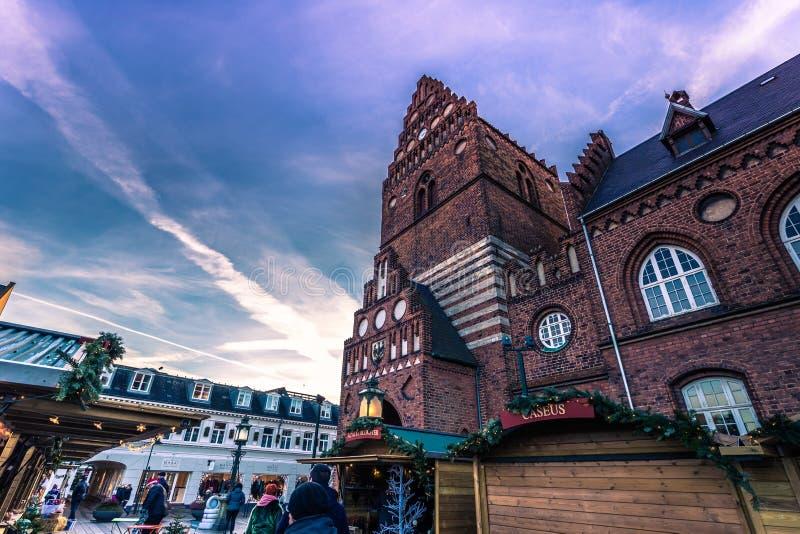 4 décembre 2016 : Hôtel de ville de Roskilde, Danemark photographie stock libre de droits