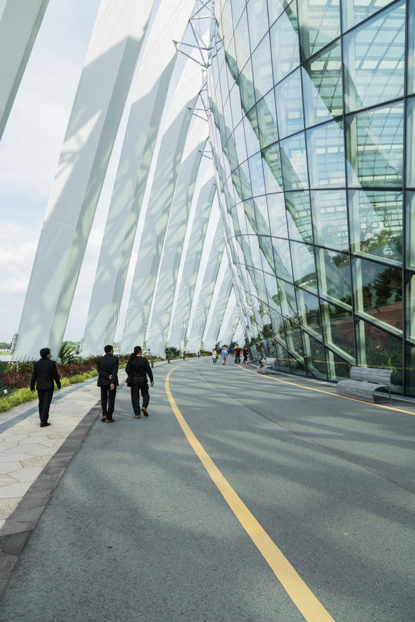 8 décembre 2016 Singapour bâtiment dans les jardins de parc image stock