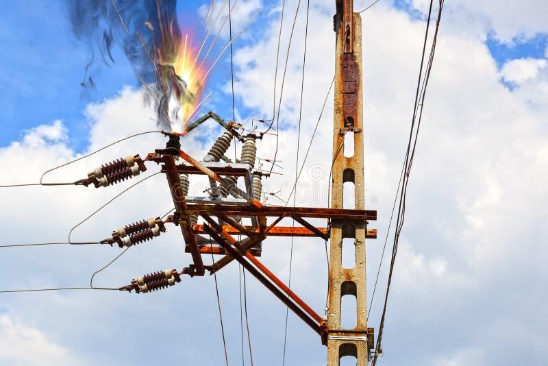 Décharge électrique image stock