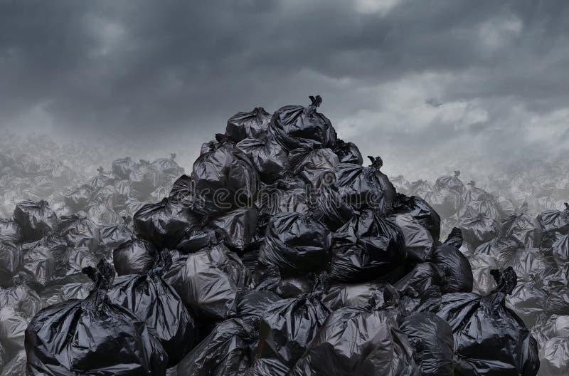 Décharge de déchets illustration libre de droits