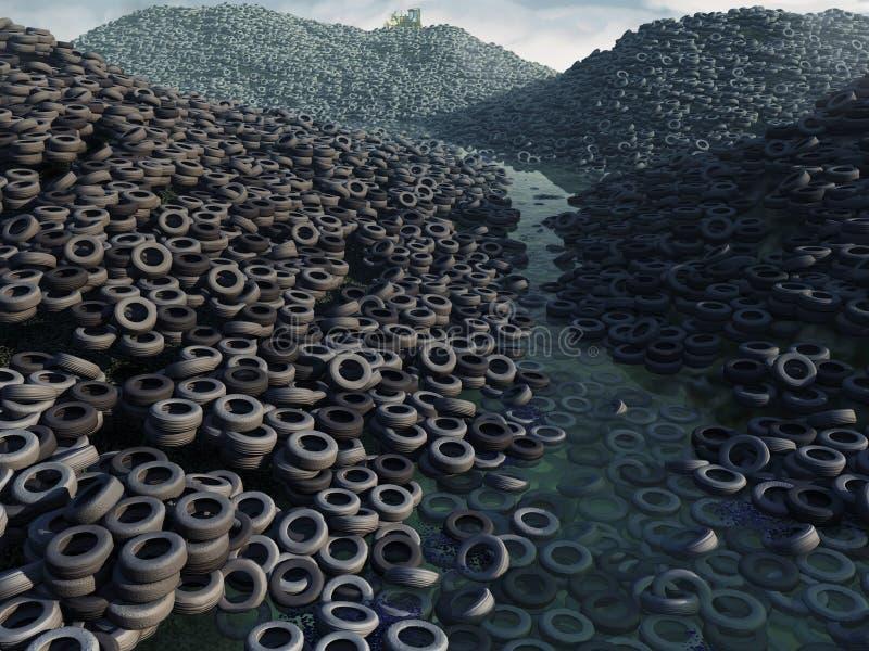 Décharge de pneu illustration stock