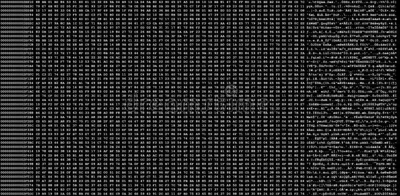 Décharge hexadécimale de code image libre de droits