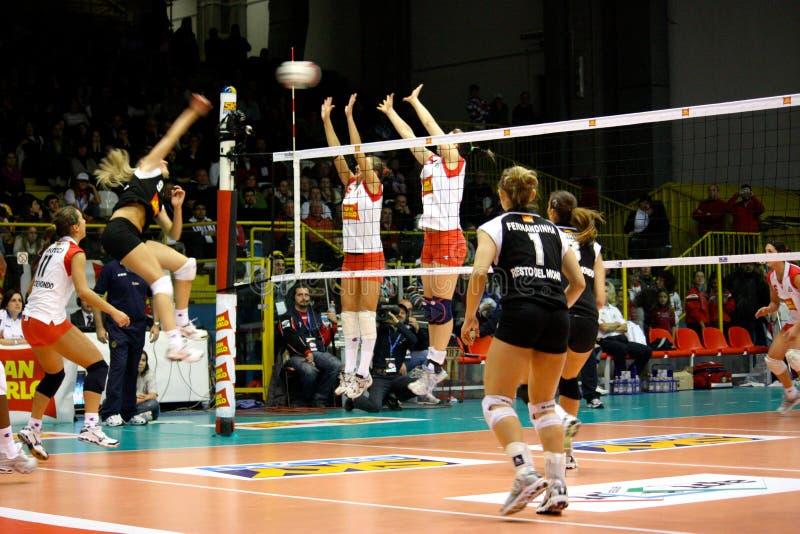 Décharge - volleyball tout le jeu 2008 d'étoile photos stock