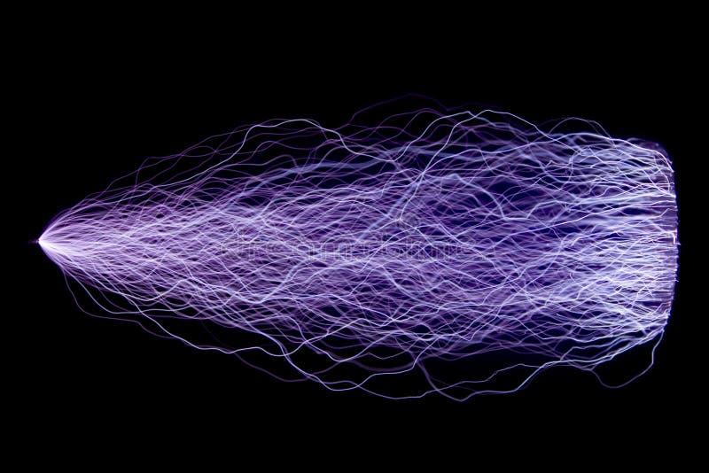 Décharges d'étincelle artificiellement créées photo libre de droits