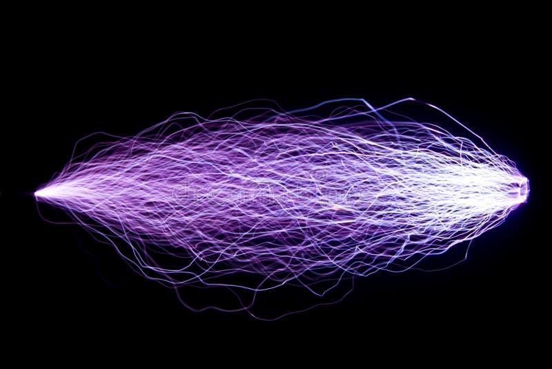 Décharges d'étincelle artificiellement créées Projet du ` s d'étudiant images stock